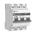 Автоматический выключатель 3P C50 4,5кА EKF Basic  ВА 47-29