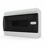 Tekfor бокс 12 модулей накладной IP40 прозрачная черная дверца нажимной, 290х195х103