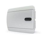 Tekfor бокс 6 модулей накладной IP40 непрозрачная белая дверца нажимной