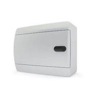Tekfor бокс 8 модулей накладной IP40 непрозрачная белая дверца нажимной
