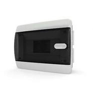 Tekfor бокс 8 модулей встраиваемый IP40 прозрачная черная дверца нажимной