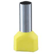 6 кв.мм. Наконечник-гильза двойная с изолированным фланцем, желтый, НШвИ2 DKC (2ART5082)
