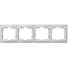 Рамка горизонтальная белая 4 поста ИЭК КВАРТА EMK40-K01-DM