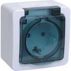 Гермес PLUS Розетка с заземлением с крышкой наружная IP54 (ERMP12-K03-16-54-EC)
