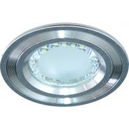 Светильник 3,5W 220V светодиодный встраиваемый с лампой серебро 100мм Feron  (DL4747 silver)