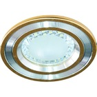 Светильник 3,5W 220V светодиодный встраиваемый с лампой золото d=100мм Feron (DL4747 gold)