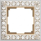 Рамка на 1 пост, WL07-Frame-01 - белое золото, металл, Werkel Antik