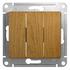 Выключатель трехклавишный в рамку, дуб, Schneider Electric GLOSSA (GSL000531)