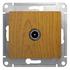 Розетка TV проходная 4Db в рамку, дуб, Schneider Electric GLOSSA (GSL000592)