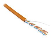 Витая пара UTP U/UTP категория 5e 4 пары 24 AWG одножильный LSZH оранжевый Hyperline (46858)