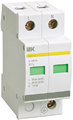 Ограничитель перенапряжения двухполюсный ОПС1-D 2п 5кА 230В, ИЭК (MOP20-2-D)