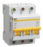 16A C 4.5kA 3P. Выключатель автоматический трехполюсный ВА47-29 IEK (MVA20-3-016-C)