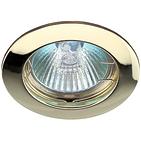 Светильник золото, литой, неповоротный MR16, 50W, ЭРА KL1 GD