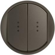 Legrand Celiane Лицевая панель выключателя двойного с индикацией (графит)