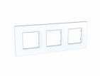Рамка 3 поста белая Schneider Electric/Unica-Quadro MGU2.706.18