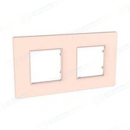 Рамка 2 поста розовый жемчуг Schneider Electric/Unica-Quadro MGU4.704.37