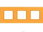 Рамка 3 поста оранжевая Schneider Electric/Unica-Quadro MGU4.706.29