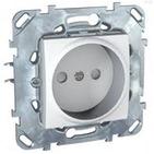 Розетка без заземления со шторками в рамку белая Schneider Electric/Unica MGU5.033.18ZD