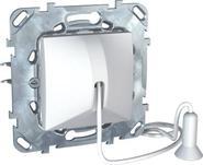 Выключатель без фиксации со шнуром белый (1м) Schneider Electric/Unica MGU5.226.18ZD