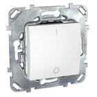 Выключатель одноклавишный двухполюсный в рамку белый Schneider Electric/Unica MGU5.262.18ZD