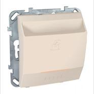 Выключатель отельный в рамку бежевый Schneider Electric/Unica MGU5.283.25ZD