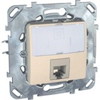 Розетка компьютерная 1хRJ45 категория 6 бежевая Schneider Electric/Unica MGU5.425.25ZD