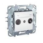 Розетка телевизионная TV/FM оконечная в рамку белая Schneider Electric/Unica MGU5.452.18ZD