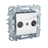 Розетка телевизионная TV/FM проходная в рамку белая Schneider Electric/Unica MGU5.453.18ZD