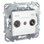 Розетка телевизионная R-TV/SAT оконечная белая Schneider Electric/Unica MGU5.455.18ZD