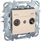 Розетка телевизионная R-TV/SAT оконечная в рамку бежевая Schneider Electric/Unica MGU5.455.25ZD
