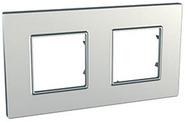 Рамка 2 поста титан Schneider Electric/Unica-Quadro MGU6.704.57