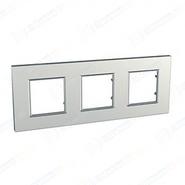 Рамка 3 поста серебро Schneider Electric/Unica-Quadro MGU6.706.55