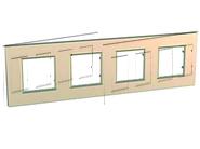 Рамка 4 поста медь Schneider Electric/Unica-Quadro MGU6.708.56