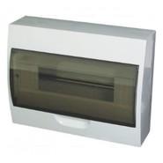 12 модулей Бокс настенного монтажа ЩРн-П-12 IP40 пластиковый белый прозрачная дверь IEK MKP12-N-12-40-10