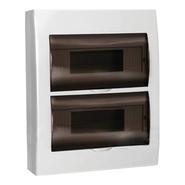 24 модуля Бокс настенного монтажа ЩРн-П-24 IP40 пластиковый белый прозрачная дверь IEK MKP12-N-24-40-10