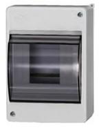 6 модулей Бокс настенного монтажа ЩРн-П-6 IP30 пластиковый белый прозрачная дверь IEK MKP42-N-06-30-09