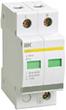 Ограничитель перенапряжений двухполюсный ОПС1-C 2P 20кА 400В, ИЭК (MOP20-2-C)