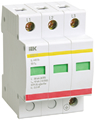 Ограничитель перенапряжения трехполюсный ОПС1-В 3п 30кА 400В, ИЭК (MOP20-3-B)