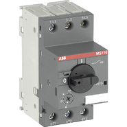 ABB MS116 0,63-1A Выключатель автоматический для защиты электродвигателей 0.63-1А MS116 управление ручкой (1SAM250000R1005)