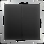 Выключатель проходной 2 кл, WL08-SW-2G-2W - черный матовый, Werkel