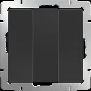 Выключатель 3 кл, WL08-SW-3G - черный матовый, Werkel