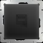 Werkel Телефонная розетка RJ-11 (черный матовый)