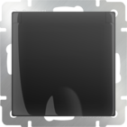 Розетка влагозащищенная с заземлением, крышкой, шторками, WL08-SKGSC-01-IP44 - черный матовый, Werkel