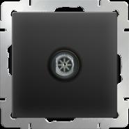 Розетка ТВ проходная, WL08-TV-2W - черный матовый, Werkel