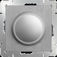 Светорегулятор, WL09-DM600 - серебряный рифленый, Werkel