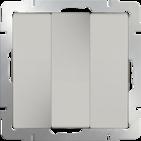 Выключатель 3 кл, WL03-SW-3G - слоновая кость, Werkel