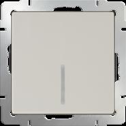Выключатель проходной 1 кл, с подсветкой, WL03-SW-1G-2W-LED - слоновая кость, Werkel