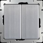 Выключатель проходной 2 кл, WL02-SW-2G-2W - глянцевый никель, Werkel