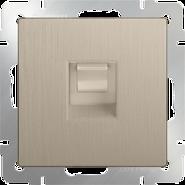 Werkel Розетка Ethernet RJ-45 (шампань рифленый)