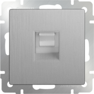 Werkel Розетка Ethernet RJ-45 (cеребряный рифленый)